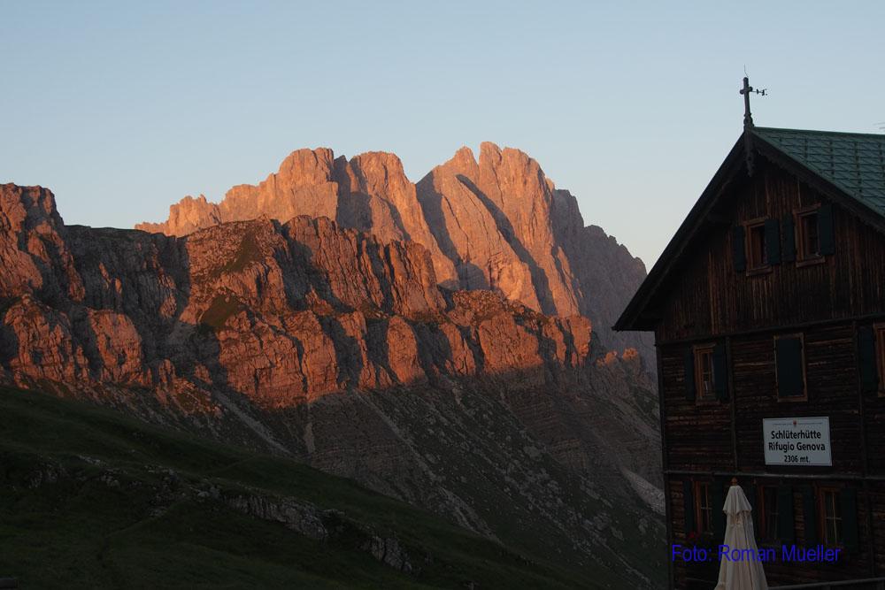 2. Tag: Schlüterhütte vor Furchetta