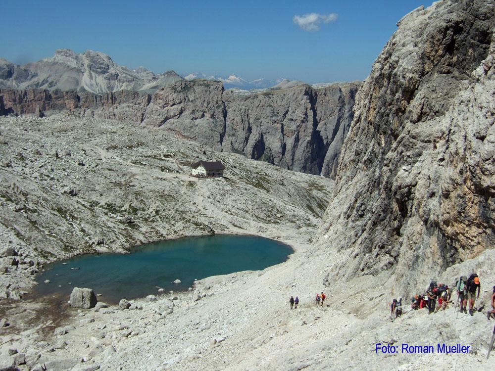 4. Tag: Aufstieg über Pisciadu zur Boehütte