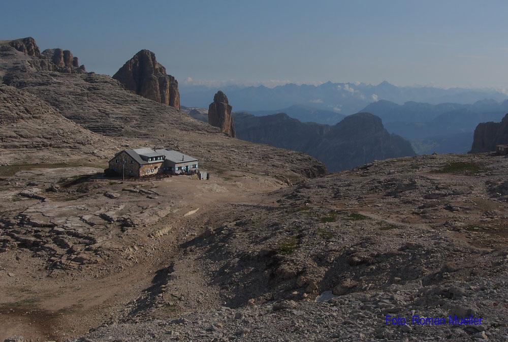 4. Tag: Piz Boe Hütte auf 3152m