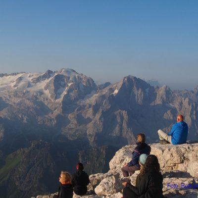 5. Tag: Sonnenaufgang am Piz Boe-Gipfel