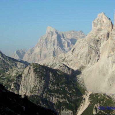 7. Tag: Blick von Tissihütte zum Mt. Pelmo