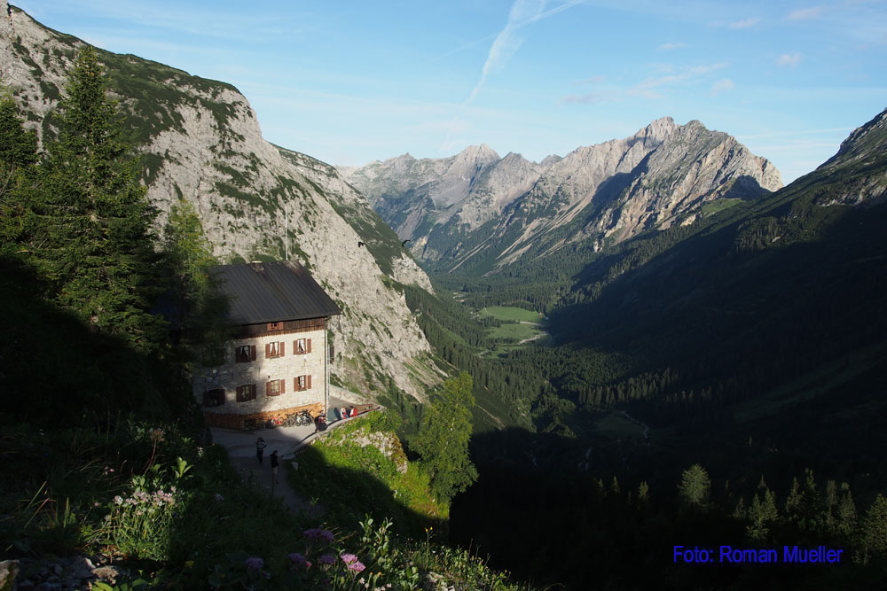 3. Tag: Karwendelhaus oberhalb vom Karwendeltal
