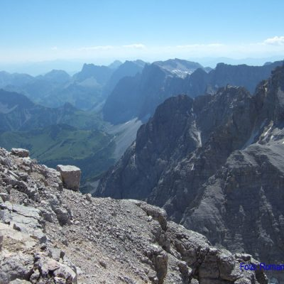 4. Tag: Aussicht von der Birkkarspitze
