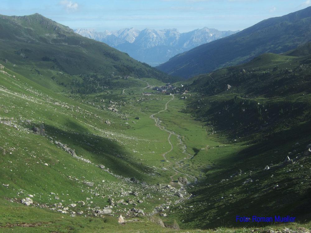 7. Tag: Blick zur Lizumer Hütte vor dem Karwendel